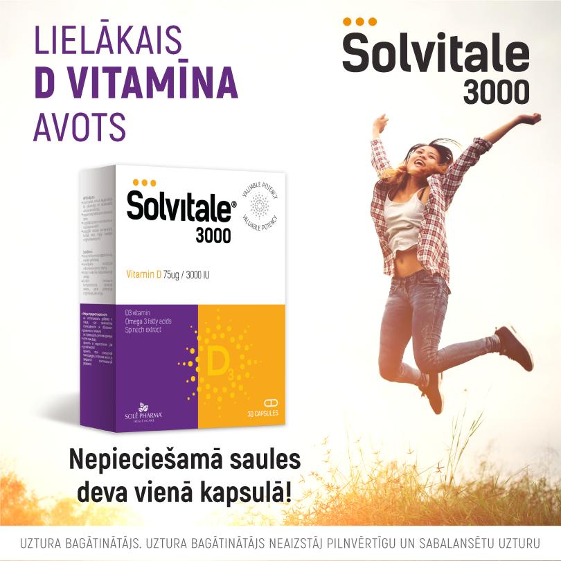 Solvitale® 3000 D + OMEGA-3, 30 kapsulas