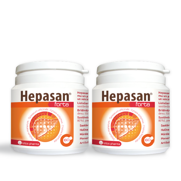 2 x Hepasan® Forte, 60 kapsulas