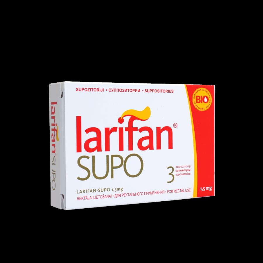 Supozitorijs Larifan Supo 1.5 mg/3gb.j