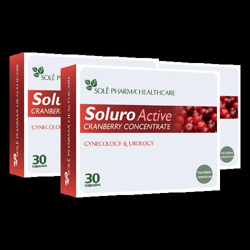 3 x Soluro® Active, 30 kapsulas