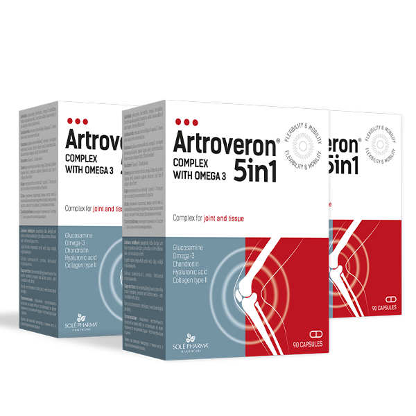 3 x Artroveron® 5in1 complex with Omega-3, 90 kapsulas - 3 mēnešu kurss!