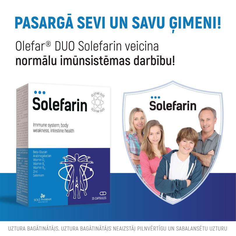 Olefar® Duo Solefarin, 15 kapsulas