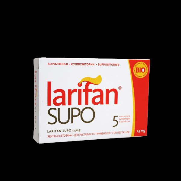 Supozitorijs Larifan Supo 1.5mg/5gb.
