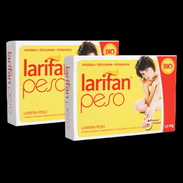2 x Pesārijs Larifan Peso 1.5mg/5gb. 1 kurss!
