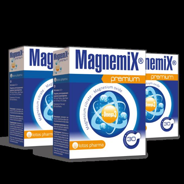 3 x Magnemix® Premium, 30 kapsulas
