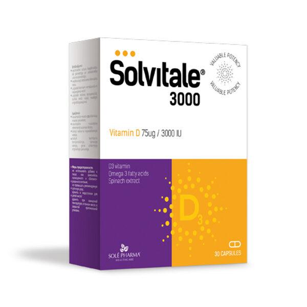 Solvitale® 3000 D+OMEGA-3, 30 капсул